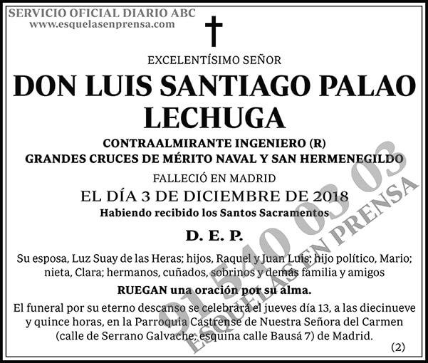 Luis Santiago Palao Lechuga